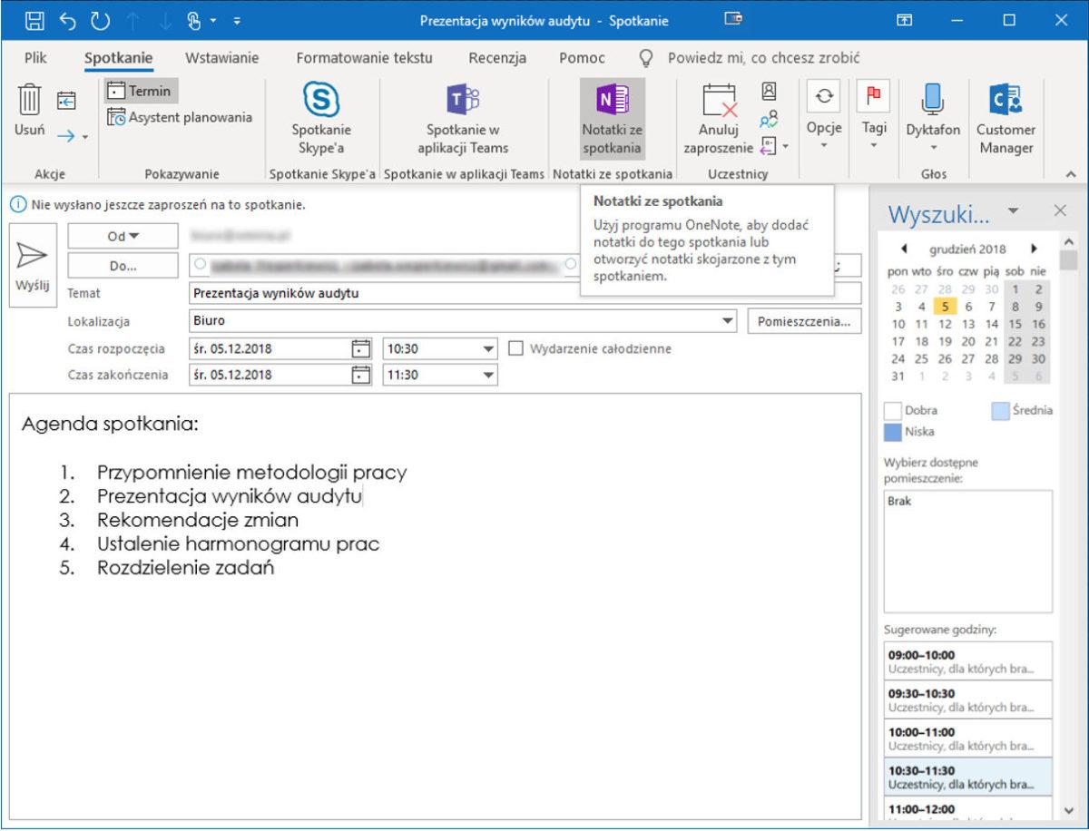 5. Screen OneNote - Microsoft OneNote - Notatki online zawsze pod ręką