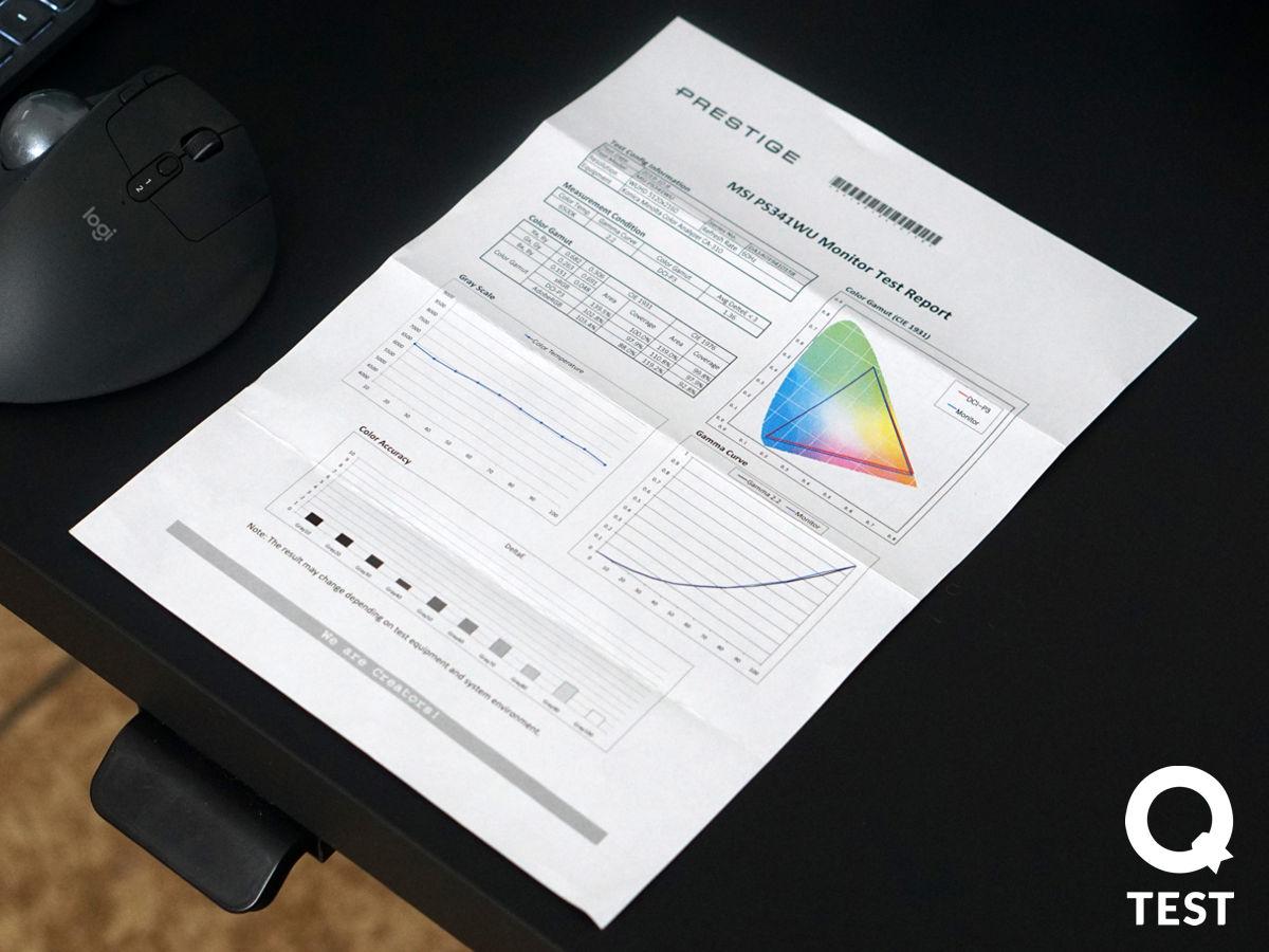 Monitor UltraWide MSI Prestige Kalibracja 1 - Monitor UltraWide MSI Prestige PS341WU – świetne rozwiązanie dla twórców i managerów