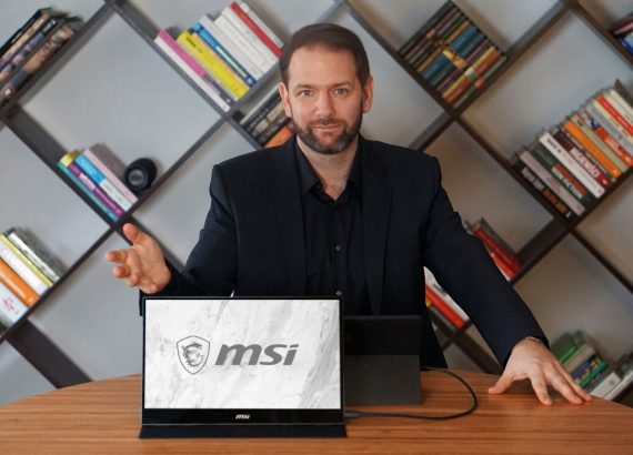 Monitor przenosny MSI OPTIX MAG161v 570x410 - Monitor przenośny MSI OPTIX MAG161V – ultramobilna produktywność