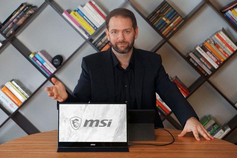 Monitor przenosny MSI OPTIX MAG161v 768x512 - Monitor przenośny MSI OPTIX MAG161V – ultramobilna produktywność