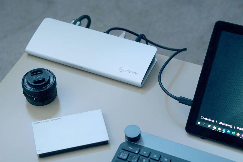 Stacja dokująca Thunderbolt 3 Icy Box 2 - Icy Box – stacja dokująca do laptopa dla wymagających