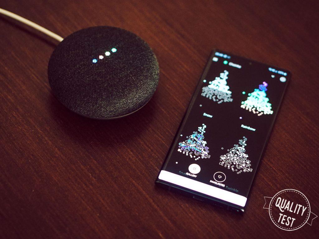 Twinkly and Google 1024x768 - Inteligentne lampki choinkowe Twinkly