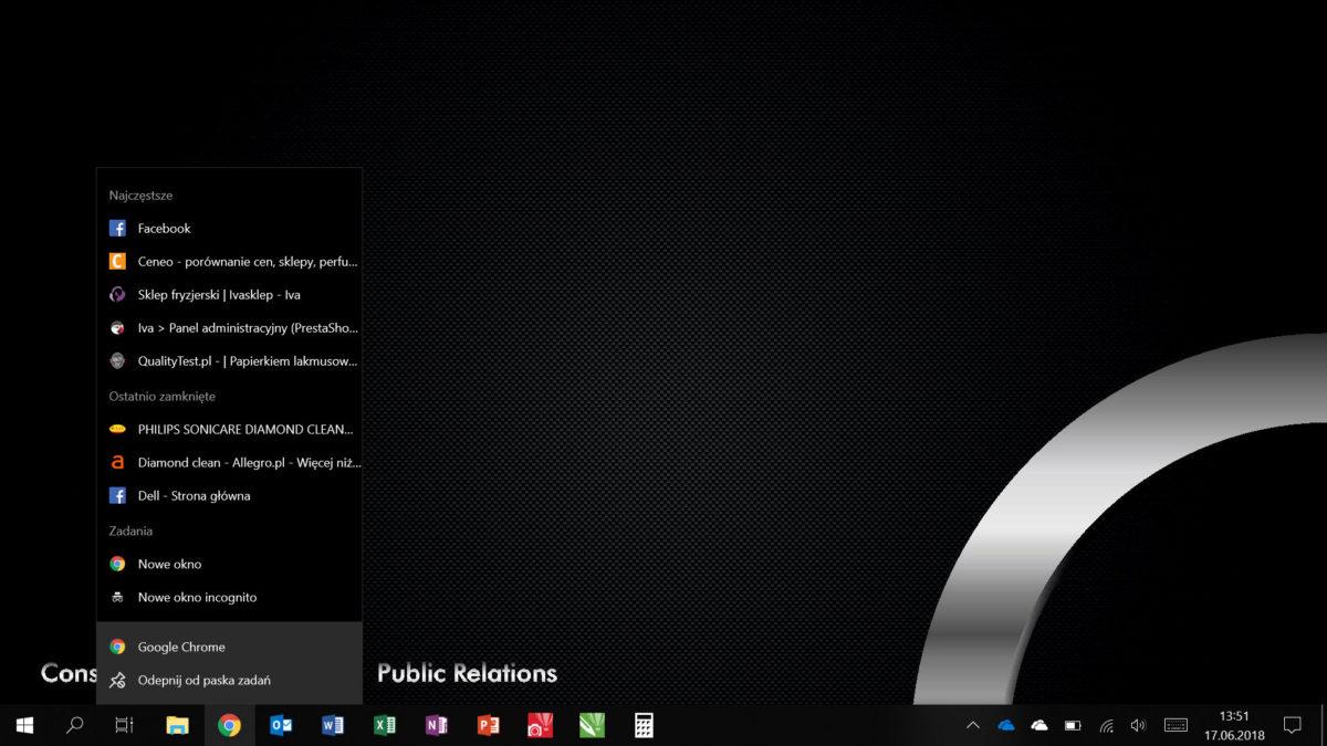 Windows Pasek Menu2 1 - Pracuj wydajniej, czyli optymalizacja Windows 10